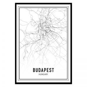 Boedapest city maps poster