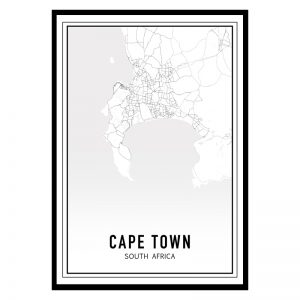 Kaapstad city maps poster
