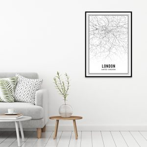 Londen city maps poster