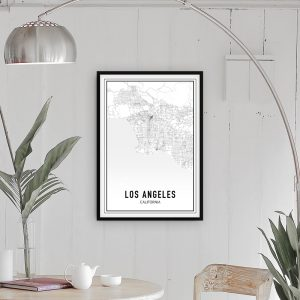 Los Angeles city maps poster