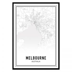 Melbourne city maps poster