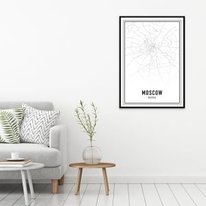 Moskou city maps poster
