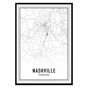 Nashville city maps poster