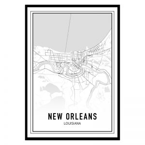 New Orleans city maps poster