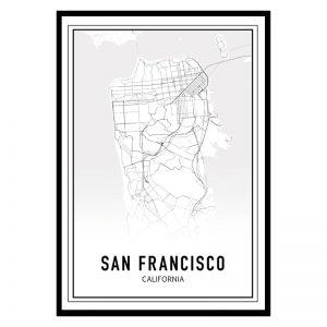 San Francisco city maps poster