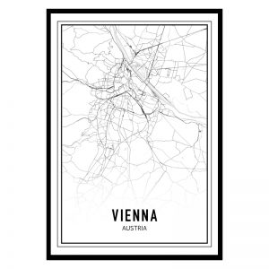 Wenen city maps poster