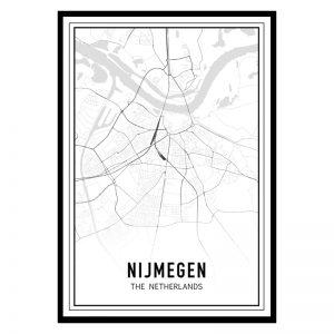 Nijmegen city maps poster
