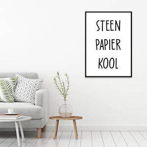 Steen Papier Kool poster