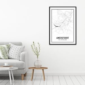 Amersfoort city maps poster