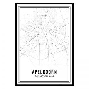 Apeldoorn city maps poster