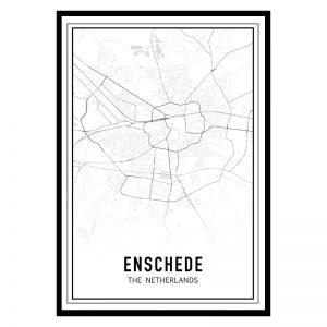 Enschede city maps poster