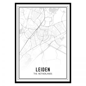 Leiden city maps poster