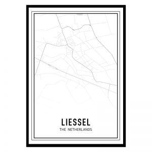 Liessel city maps poster