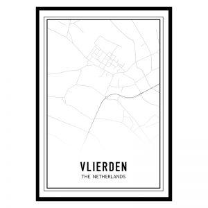 Vlierden city maps poster