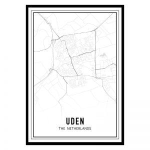 Uden city maps poster