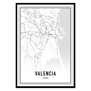 Valencia city maps poster