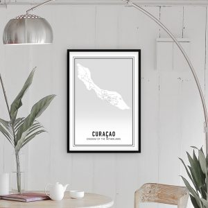 Curacao city maps poster