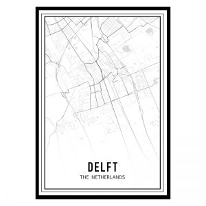 Delft city maps poster