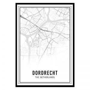 Dordrecht city maps poster
