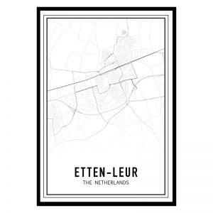 Etten-Leur city maps poster
