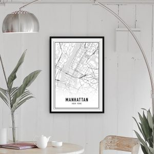 Manhattan city maps poster