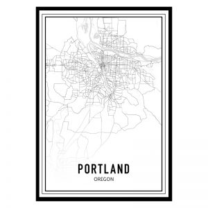 Portland city maps poster