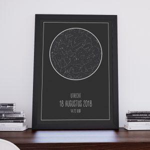 Star map (sterrenposter) poster