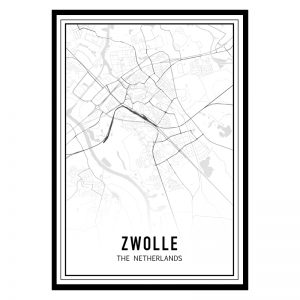 Zwolle city maps poster