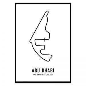 Abu Dhabi Formule 1 circuit poster