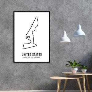 Amerika Formule 1 circuit poster