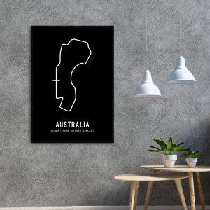 Australie Formule 1 circuit poster