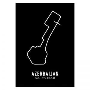 Azerbeidzjan Formule 1 circuit poster