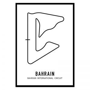 Bahrein Formule 1 circuit poster