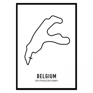 Belgie Formule 1 circuit poster