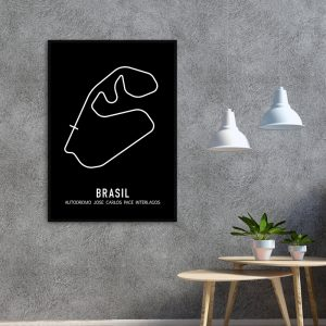 Brazilie Formule 1 circuit poster