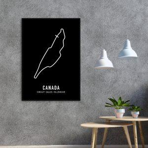 Canada Formule 1 circuit poster