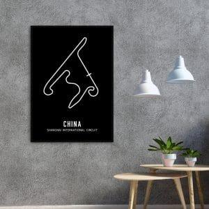 China Formule 1 circuit poster