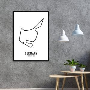 Duitsland Formule 1 circuit poster