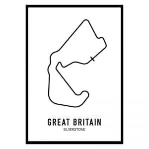 Engeland Formule 1 circuit poster