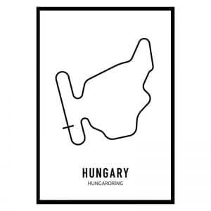 Hongarije Formule 1 circuit poster