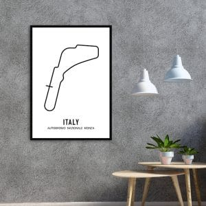 Italie Formule 1 circuit poster