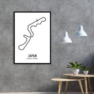 Japan Formule 1 circuit poster