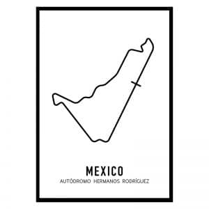 Mexico Formule 1 circuit poster