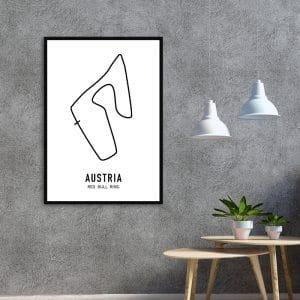 Oostenrijk Formule 1 circuit poster