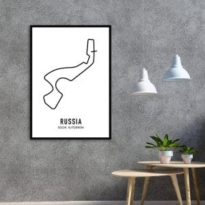Rusland Formule 1 circuit poster