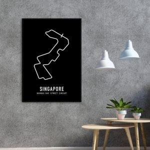 Singapore Formule 1 circuit poster