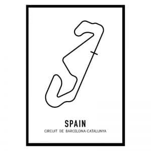 Spanje Formule 1 circuit poster