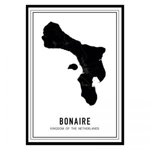 Bonaire Dark city maps poster