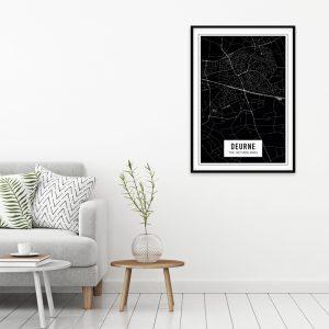 Deurne Dark city maps poster