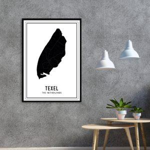 Texel Dark city maps poster